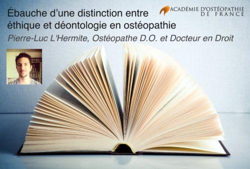 pierre luc l'hermite - ethique et deontologie en ostéopathie