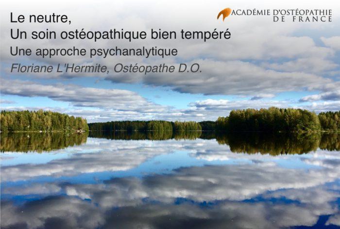 lac immobile avec reflet de nuages avec titre de l'article par dessus